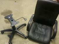 Black leather office/computer chair