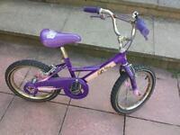 Girls bratz bike. Age 6-9. Purple