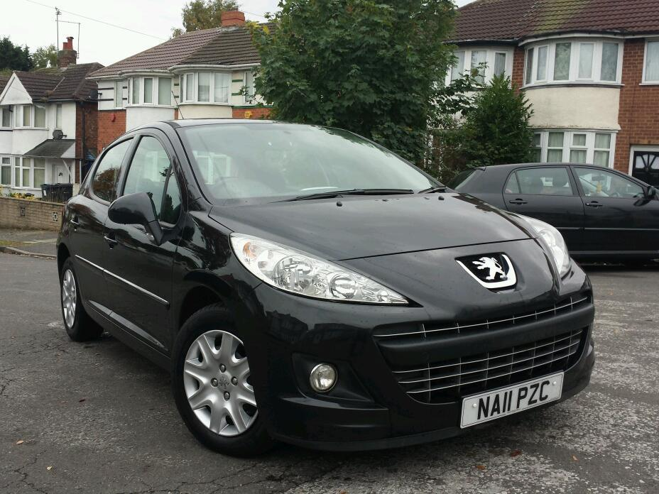 2011 peugeot 207 1 4 hdi fap active 20 road tax full service history mot may 2016 bluetooth aux. Black Bedroom Furniture Sets. Home Design Ideas