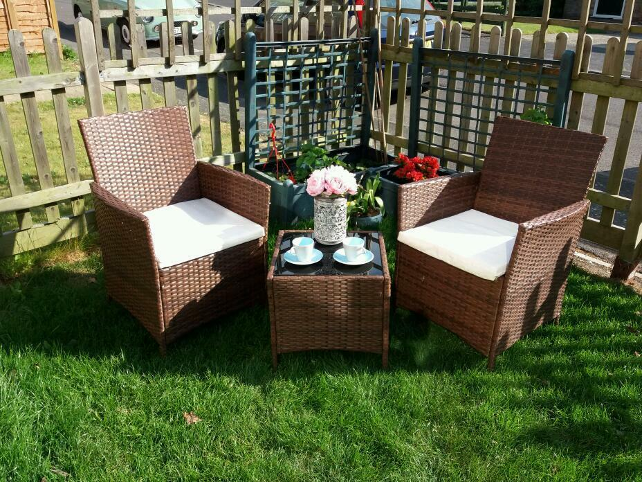 Rattan furniture setin Southampton, HampshireGumtree - This set of rattan garden furniture is in mint condition, its brown in colour and, this also comes with sitting cushions which are cream in colour.This is a great garden set. RRP was £200