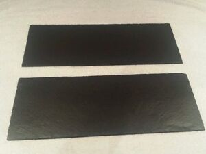 2 Piece Set Natural Slate table runner, centre mats