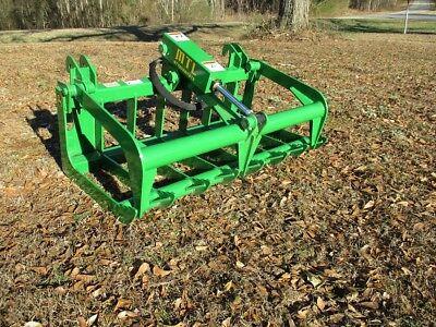 MTL Attachments John Deere Compact Tractor 48 Root Rake Grapple Bucket-Free Ship