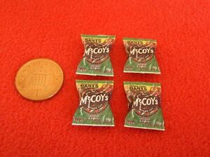Dolls-House-Miniature-4-Packets-of-Crisps-A4