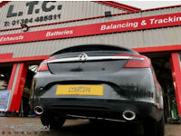 Proflow Exhausts Vauxhall Insignia custom built Stainless Steel Exhaust with Dual Twin Tail Pipes