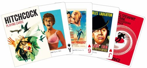 Alfred Hitchcock set of 52 playing cards + jokers (gib)