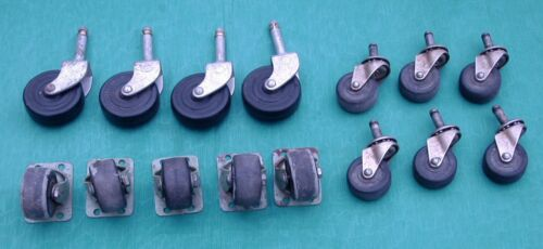Vintage Lot 16 Wheels Castors 3 Sets