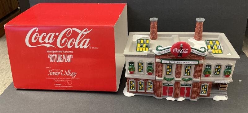 Dept 56 Snow Village Coca-Cola Bottling Plant 1994 #5469-0 Includes Box no light