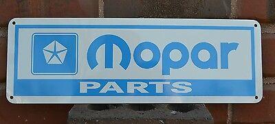 MOPAR PARTS Blue Mechanic Service Garage Shop Sign Jeep Dodge Plymouith 7day