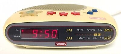 Vintage Playskool Kids Digital Clock Alarm Music AM/FM Radio Model PS-360 WORKS