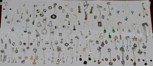 Vintage Sterling Silver 925 Stamped Mixed Jewelry Lot With 46 Sets 506 Grams