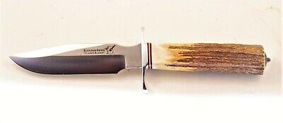 Blackjack Model 5 Stag Fighting Knife Custom Navajo Sterling Silver Onyx Concho!