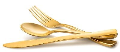Disposable Plastic Gold Silverware Cutlery- Metallic Flatware - Fancy - Gold Plastic Silverware