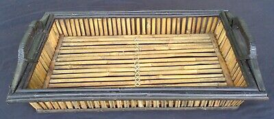 antique BAMBOO WOOD tray