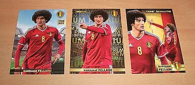 PANINI CARREFOUR LOT 23 46 136/180 - BELGIAN RED DEVILS TOUS ENSEMBLE - FELLAINI