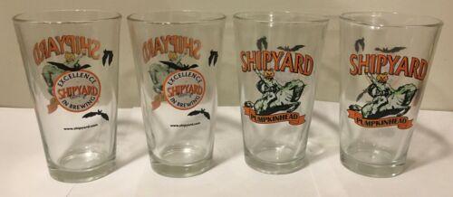 Set of 4 SHIPYARD PUMPKINHEAD 16 Ounce (Pint) Glasses NEW