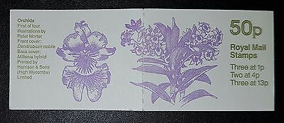 GB 1984 FB27 Booklet (orchids) 3x1p 2x4p 3x13p MNH (No1354)