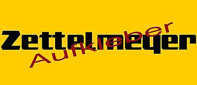 ZETTELMEYER Aufkleber Schriftzug Logo Emblem - schwarz, neu, Reproduktion, 70 cm