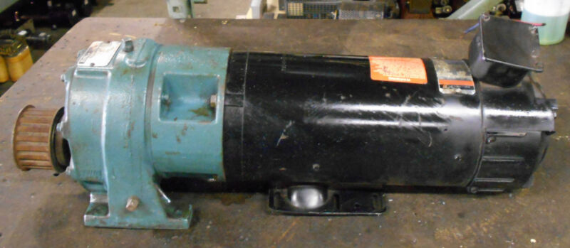 Reliance Electric 1.5 HP DC Motor, # T56H1034V-RS, w/ Speed Reducer, Warranty