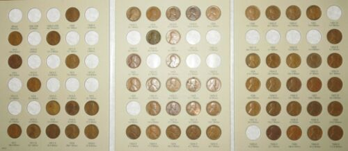 1909-1940 PDS Lincoln Wheat Penny Cent Collection, 61 coins in Album w/Semi-Keys