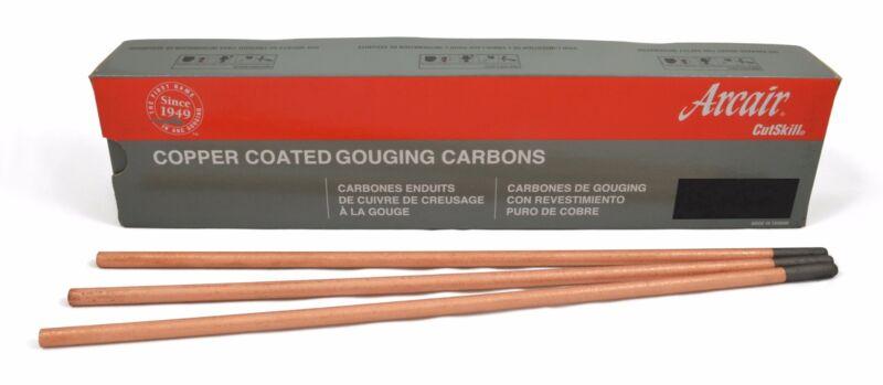 """1/4"""" x 12"""" Arcair Carbon Gouging Rods Copperclad DC Electrodes, 50pc"""