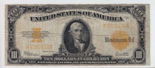 1922 $10 Gold Certificate Note FR#1173 K4382472