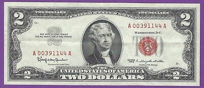 2 00 United States Note   1963   Granahan Dillon   A00391144a