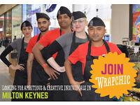 Counter Assistant (Burritas) for WRAPCHIC in INTU Milton Keynes