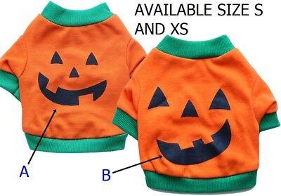 Halloween Pet Puppy Cat Dog  Cotton Shirt Tops Pumpkin Costumes Clothes - Catdog Costume Halloween