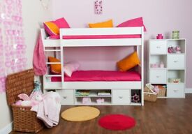 White Bunk Beds - Stompa Brand Can be split into 2 single beds