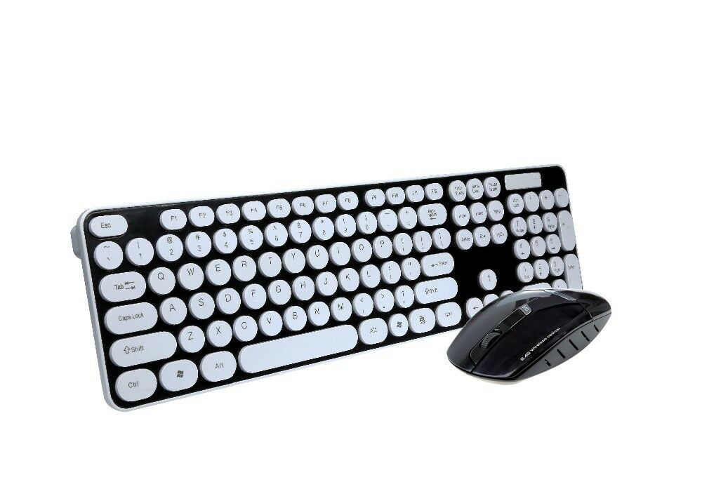 KIT TASTIERA E MOUSE SENZA FILI MINI WIFI WIRELESS PER PC KEYBOARD USB NOTEBOOK