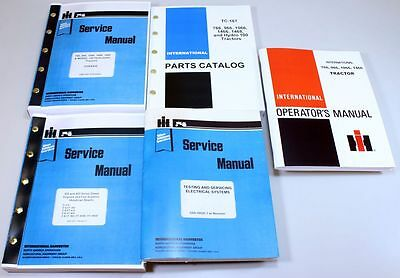 International 766 966 1066 1466 Tractor Service Operators Parts Manual Catalog
