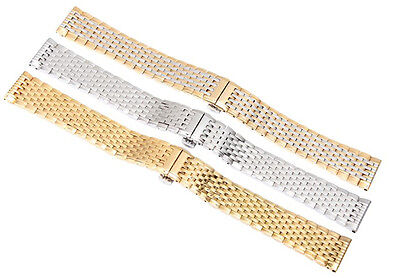New Solid Stainless Steel Bracelet Wrist  Watch  Strap Band For Longines