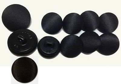 Deluxe, Black Tuxedo Coat Buttons- 11 Piece Set of Luxurious Satin-  Ships Free