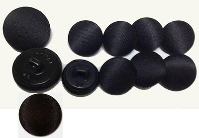 Deluxe  Black Tuxedo Coat Buttons  11 Piece Set Of Luxurious Satin   Ships Free
