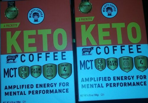 Mighty Coffee Keto Coffee MCT Oils Gluten Free 12 Packets 10/22/20 - $37.99