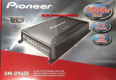PIONEER GM-D9605 5 Channel Speakers & Subwoofers 2000 Watts Car Audio Amp NEW