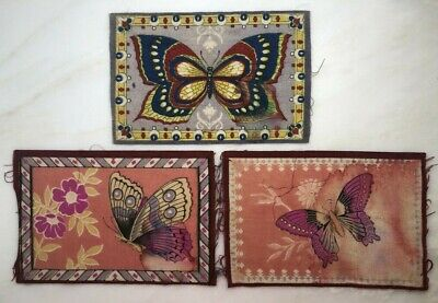 Vintage TOBACCO FELT Flannel BUTTERFLY Advertising
