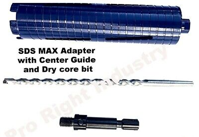 3 Laser Welded Core Bit With Sds Max Shank Adapter Center Guide Hammer Drill