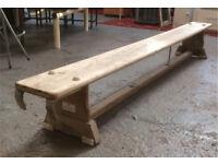 Wood gymnastic bench