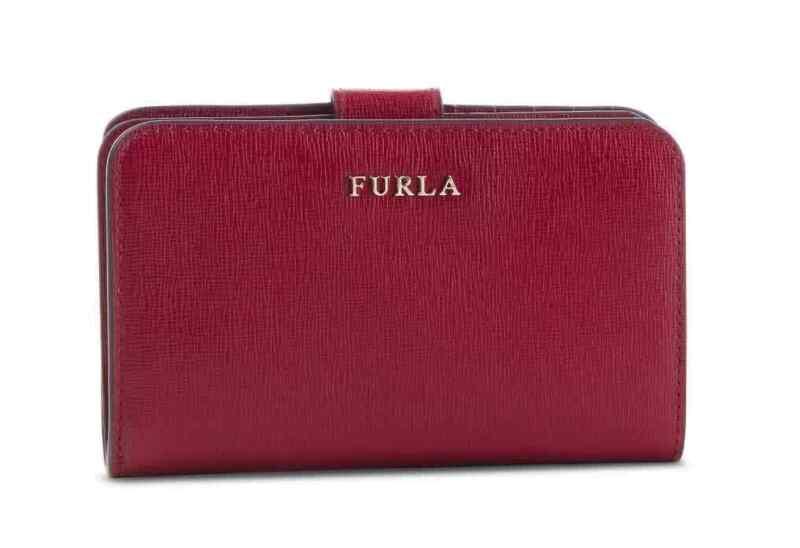 Furla Ladies Babylon Zip-around Logo Plaque Wallets In Deep Red
