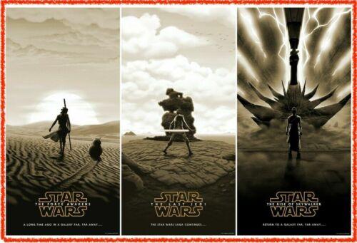 Star Wars Sequel Trilogy Posters | VARIANT SET | Rey Skywalker | In Hand