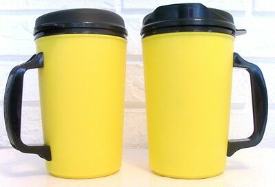34 Oz Yellow Thermo Serv Insulated Travel Mugs Cups
