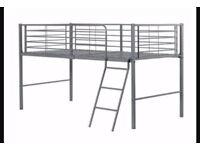 Mid sleeper metal bed plus mattress