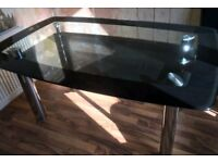 GLASS TABLE. NOT CHAIRS. EXCELLENT CONDITION