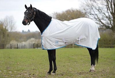 Weatherbeeta Kool Coat Lite with Surcingles Standard Neck White/Blue