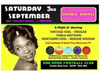 SATURDAY 3rd SEPTEMBER - 60s 70s SOUL / REGGAE / MOTOWN / SKA with DOUBLE BARREL . BATH