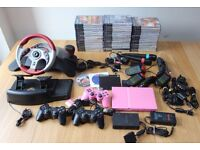 Pink Sony Playstation 2 PS2 Bundle