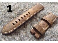 Genuine Officine Panerai Leather Strap Band 24mm 24/22