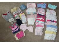 Bundle of Baby Clothes (Some Brand New) Over 70 items, 3 - 6 months, Girl (M&S, Next Mothercare)