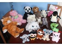 Job Lot no.1 - 17 x Children's Soft Toys Including Large Cat, Pink Bear, Hello Kitty, etc